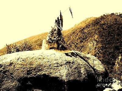 Photograph - God On The Rock by Hari Om Prakash