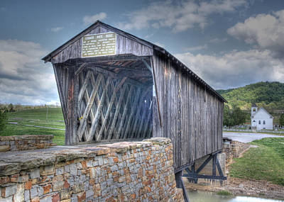 Goddard Covered Bridge Art Print by Harold Rau