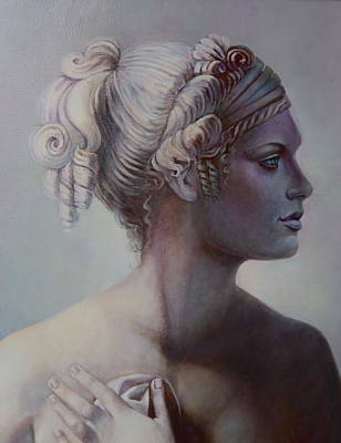 Goddess Detail Art Print by Geraldine Arata