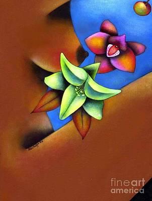 Goddess In Bloom Art Print by Mucha Kachidza