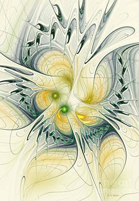 Green Surreal Geometric Digital Art - Goddess Isis by Deborah Benoit