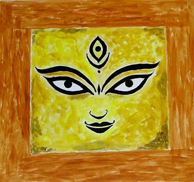 Art Print featuring the painting Goddess Kali by Sonali Gangane