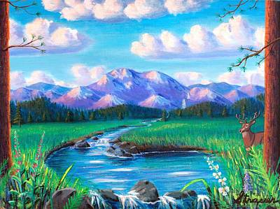 Painting - God's Country by Frank Strasser