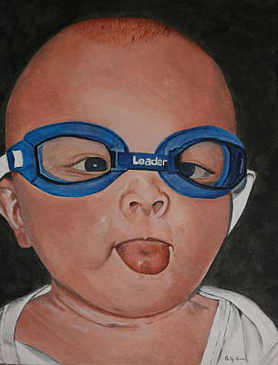 Painting - Goggle Eyed by Betty-Anne McDonald