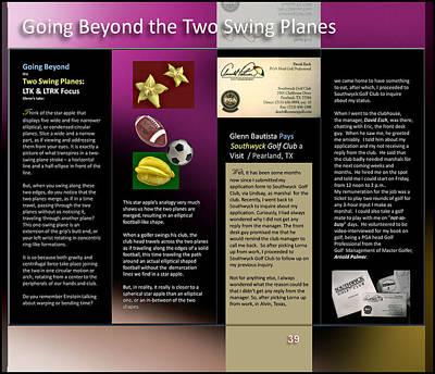 Digital Art - Going Beyond 2 Swing Planes P39 by Glenn Bautista