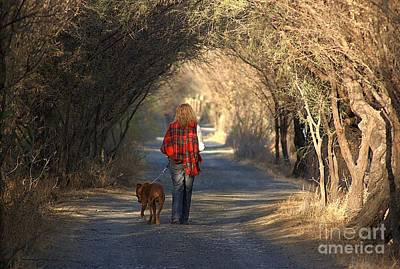 Going For A Walk  The Photograph Art Print by John  Kolenberg
