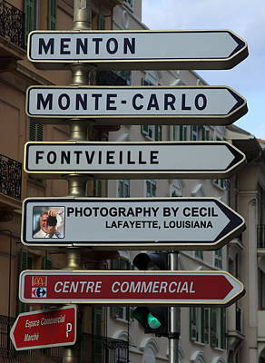 Menton Photograph - Going Global by Cecil Fuselier