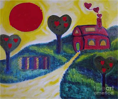 Hearts On Trees Digital Art - Going Green by Karen Francis