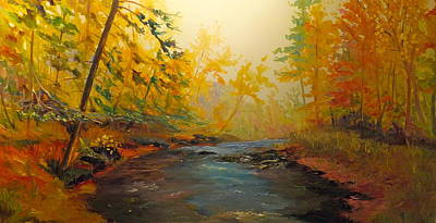 Painting - Going Up Stream by Sarah Jane Conklin