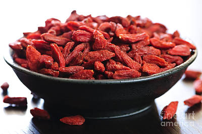 Goji Berries Art Print by Elena Elisseeva