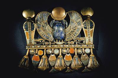 Gold And Semiprecious Stone Pendant Art Print by Kenneth Garrett