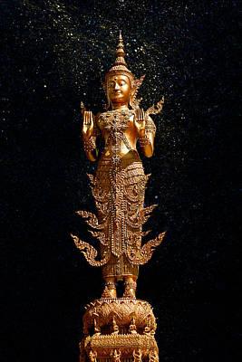 Gold Buddha  Art Print by Bou Lemon