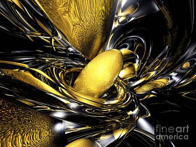 Gold Fever Abstract Art Print by Alexander Butler