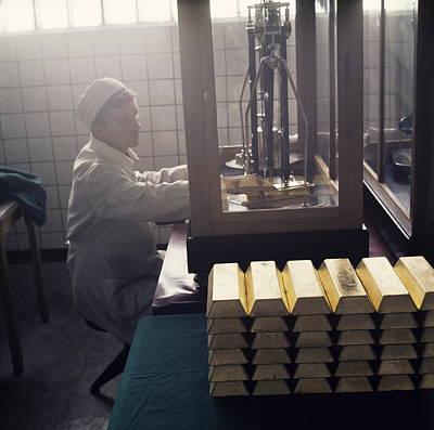 Gold Ingots Print by Ria Novosti