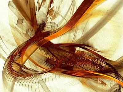 Modern Digital Art Digital Art - Gold Inspiration by Klara Acel