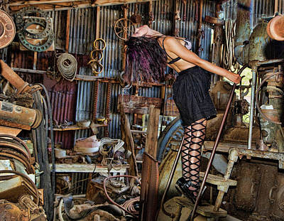 Photograph - Gold King Junk Shop by Joel Gilgoff