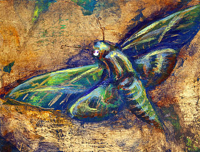 Mixed Media - Gold Moth by Ashley Kujan