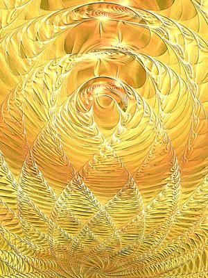 Art Print featuring the digital art Gold Pressed Latinum by Lea Wiggins
