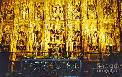 Photograph - Golden Altar by Barbara Plattenburg