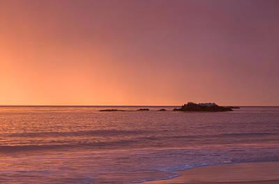 Photograph - Golden And Pink Sky by Cliff Wassmann