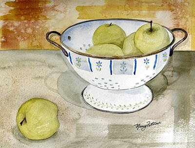 Painting - Golden Apples by Nancy Patterson