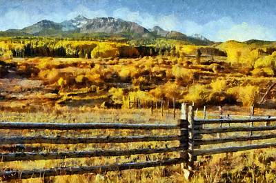 Fields Painting - Golden Autumn by Jeff Kolker