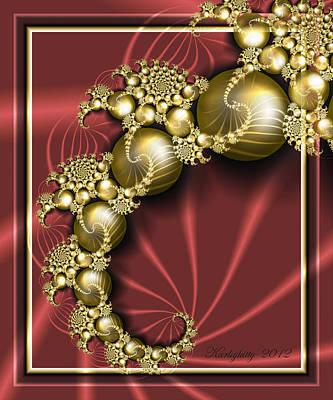 Digital Art - Golden Baubles by Karla White