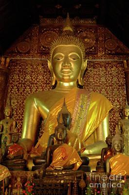 Golden Buddha 2 Art Print by Bob Christopher