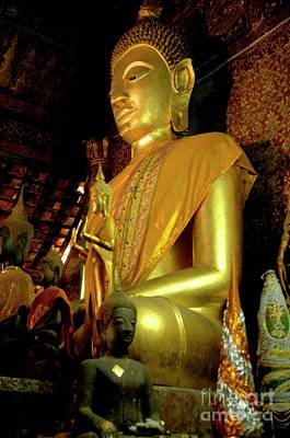 Golden Buddha Art Print by Bob Christopher