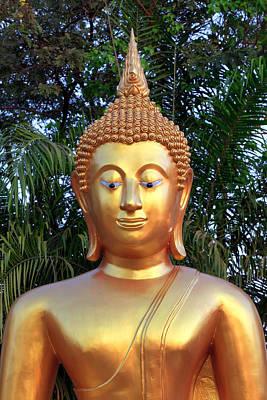 Golden Buddha Statue Art Print by Thomas  von Aesch