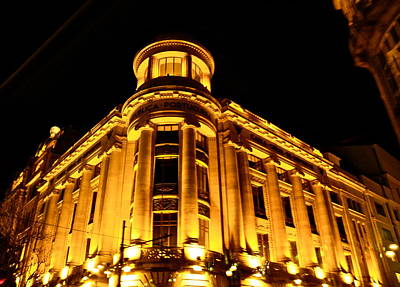 Photograph - Golden Building At Night by Kirsten Giving