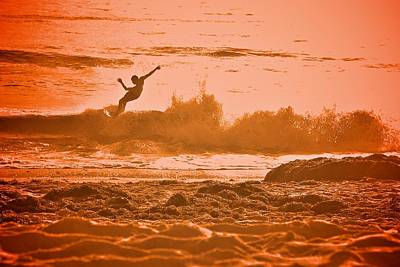 Photograph - Golden California Surf  by Valerie Rosen