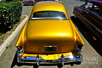 Appleton Photograph - Golden Chevy by Customikes Fun Photography and Film Aka K Mikael Wallin