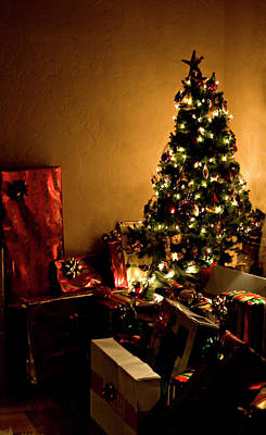 Photograph - Golden Christmas by Lorraine Devon Wilke