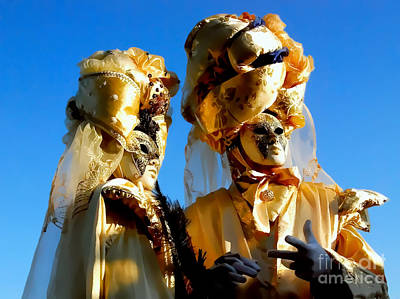 Photograph - Golden Couple Of Venice by Alexandra Jordankova
