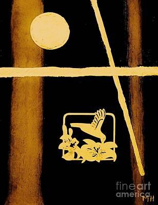 Religious Art Mixed Media - Golden Cross by Marsha Heiken