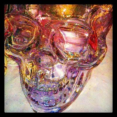 Scifi Wall Art - Photograph - Golden Death - Skull #abstract #android by Marianne Dow