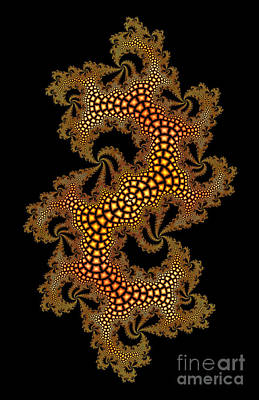 Digital Art - Golden Dragonskin by Nicholas Burningham