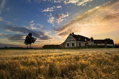 Chartres Photograph - Golden Evening by Debra and Dave Vanderlaan