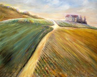 Painting - Golden Fields by Bonnie Goedecke