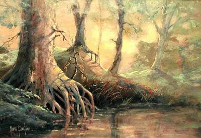 Painting - Golden Forest by Gary Partin