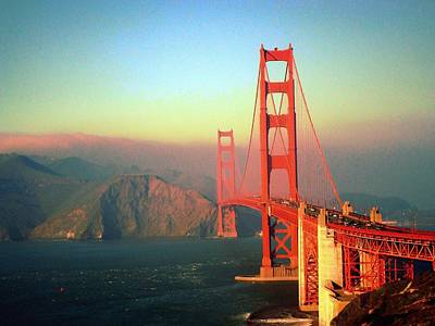 Photograph - Golden Gate At Sunset by Rima Biswas