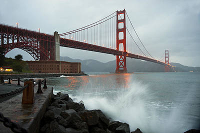 Photograph - Golden Gate Bridge by Bernard Chen