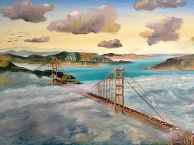 Golden Gate Bridge Art Print by Biren