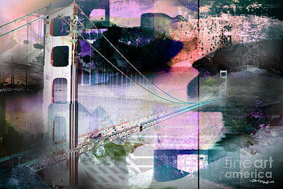 Christine Mixed Media - Golden Gate Bridge by Christine Mayfield