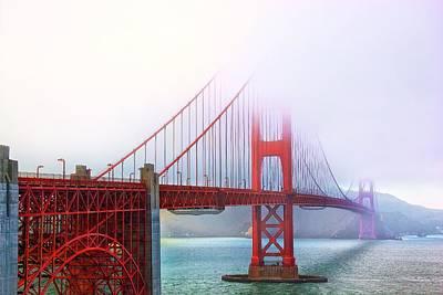Art Print featuring the photograph Golden Gate Bridge by Joe Urbz