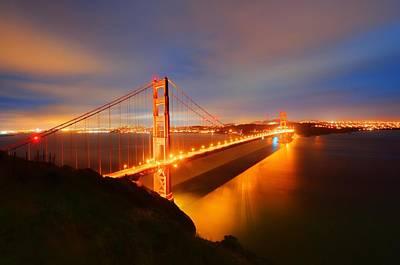 Y120817 Photograph - Golden Gate Bridge by Photography by Steve Kelley aka mudpig