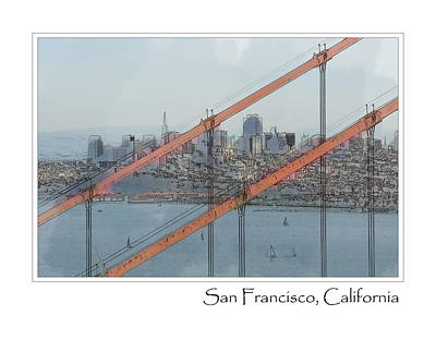 San Francisco Photograph - Golden Gate Bridge With San Francisco In Background by Brandon Bourdages