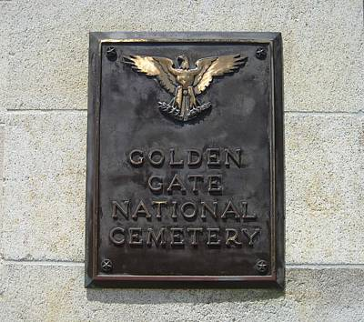 Photograph - Golden Gate National Cemetery by Dany Lison
