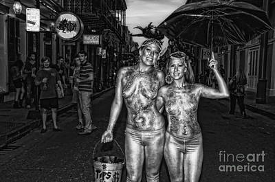 Photograph - Golden Girls Of Bourbon Street - Black And White by Kathleen K Parker